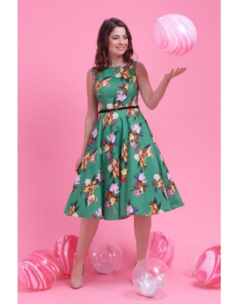 Lady V Hepburn-jurk - Emerald Garden