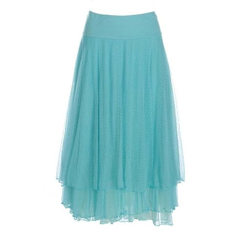LaLaMour Mesh skirt - Turquoise