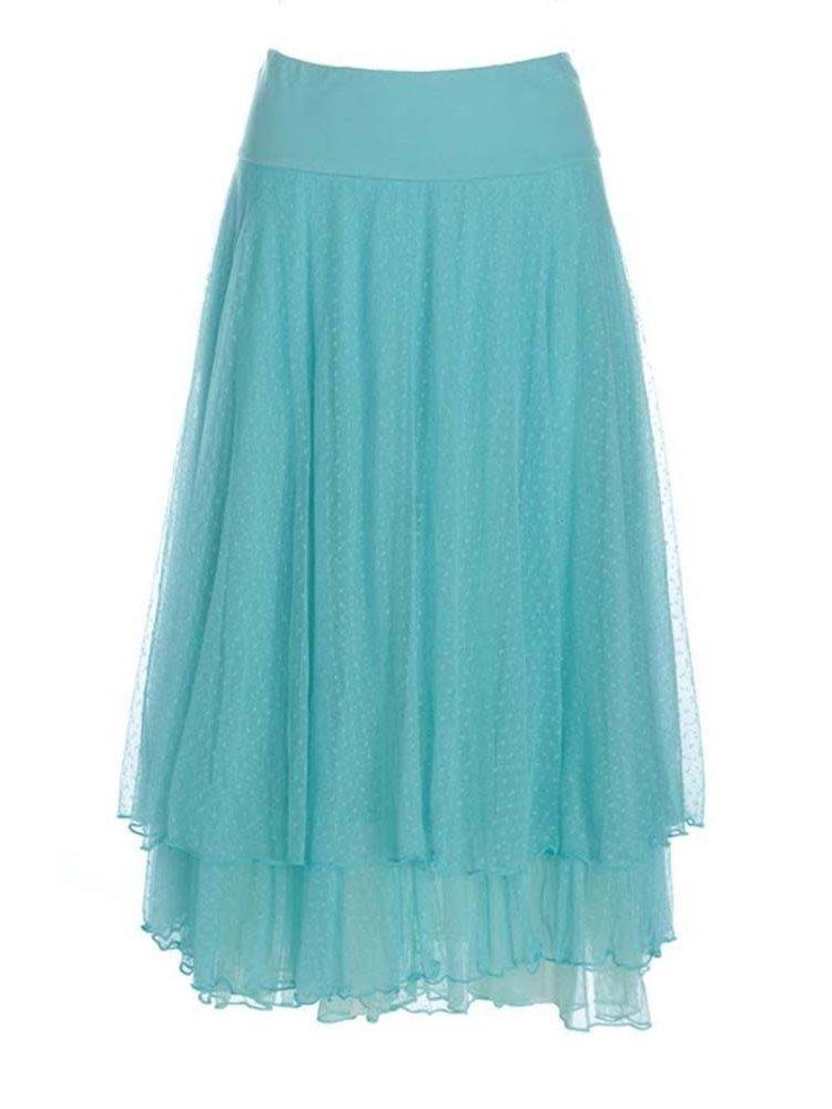 LaLaMour Mesh skirt - Licht Turquoise