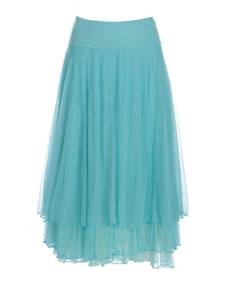 LaLaMour Mesh skirt - Turquoise