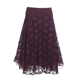 LaLaMour Lace skirt - aubergine