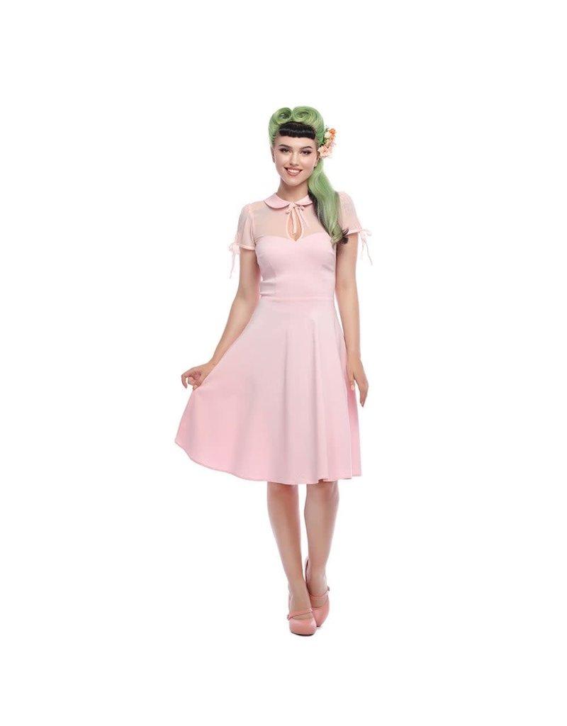 Collectif Kitten Pink Swing Dress