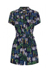 Collectif Frou Palm Tree Print Playsuit