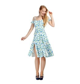 Collectif Eliza Blueberries Swing Dress