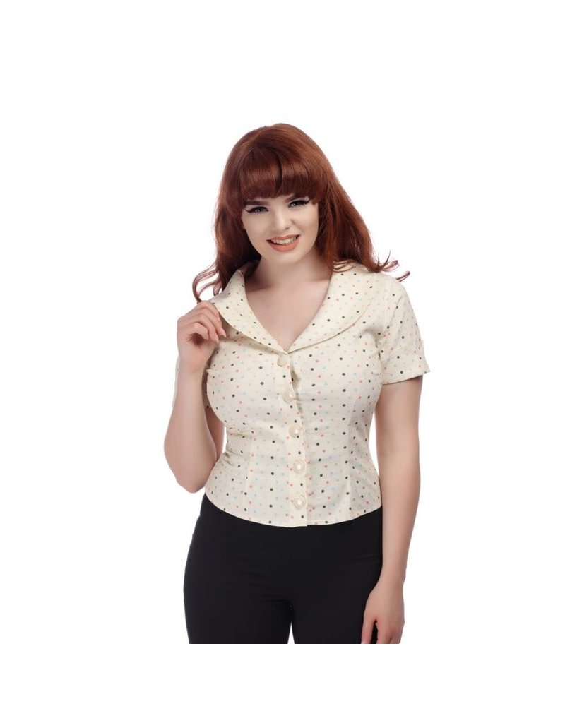 Collectif Brette Polka Dot Shirt