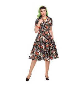 Collectif Caterina Forest Floral Swing Dress