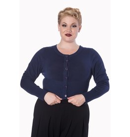 Banned Dolly Cardigan - Dark Blue