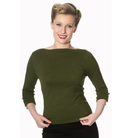 Banned Addicted Sweater - Olive