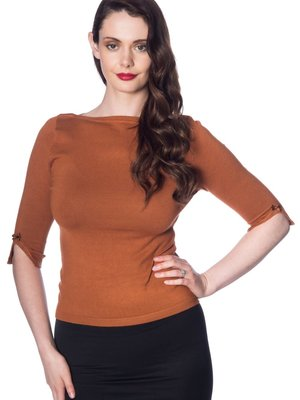 Banned Addicted Sweater - Brown plus size