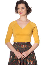 Banned Jersey Top - Mustard
