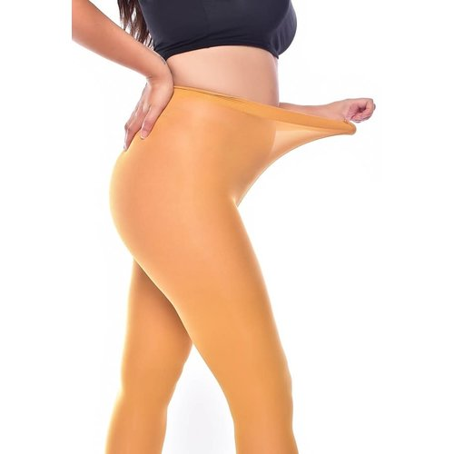 Pamela Mann 50 Denier Curvy Super Stretch Tights Mustard