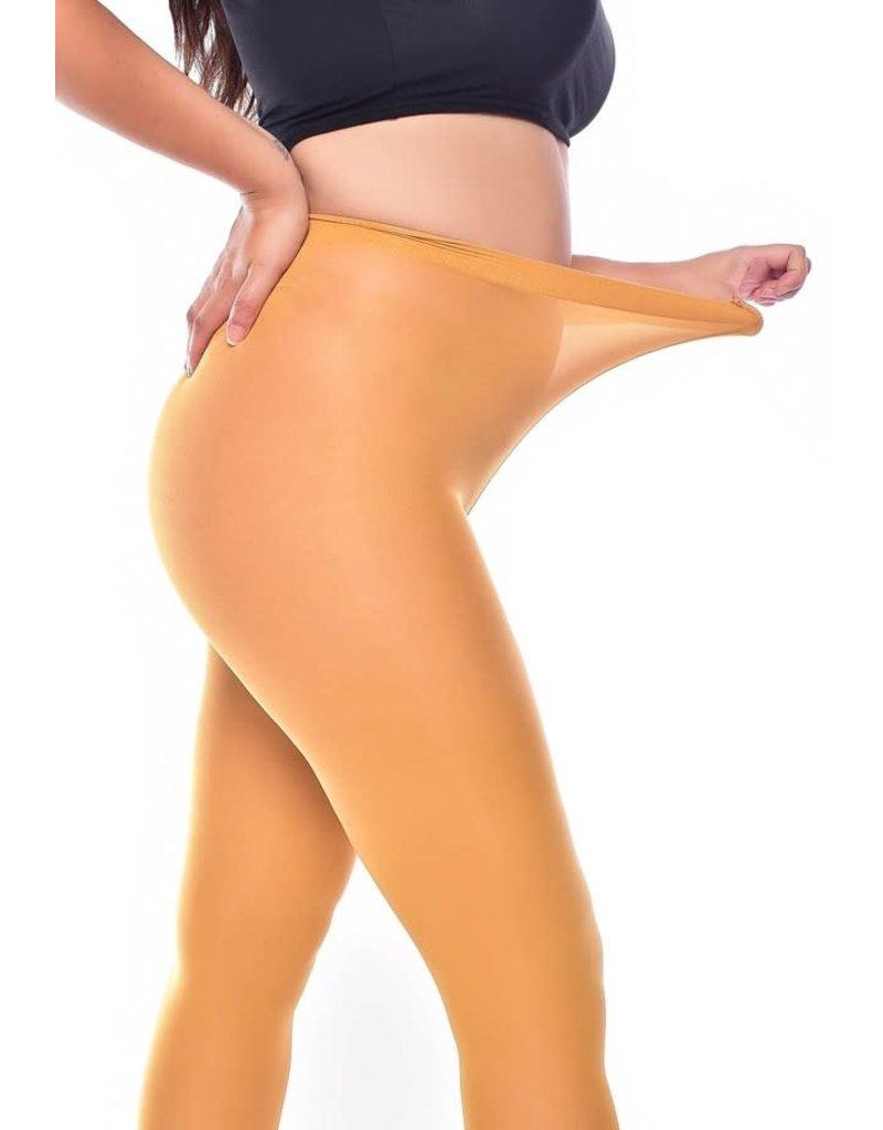 Pamela Mann 50 Denier Curvy Super Stretch Tights Mustard