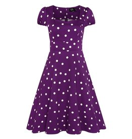Dolly & Dotty Claudia Polka Dot Dress In Purple & White