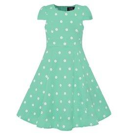 Dolly & Dotty Kids Claudia Polka Dot Dress In Mint/White