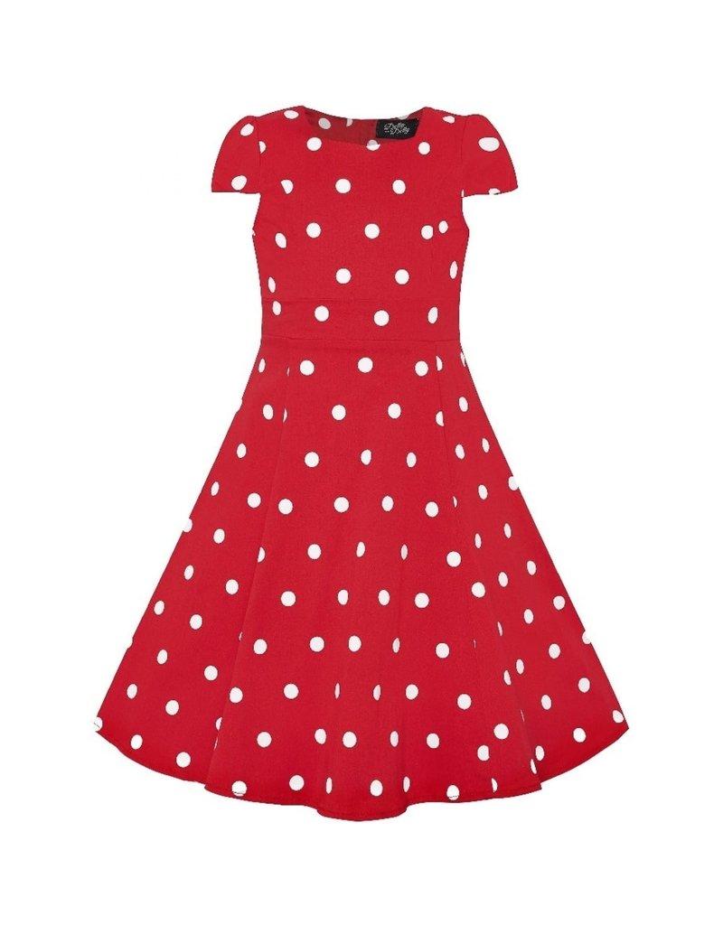 Dolly & Dotty Kids Claudia Polka Dot Dress In Red/White
