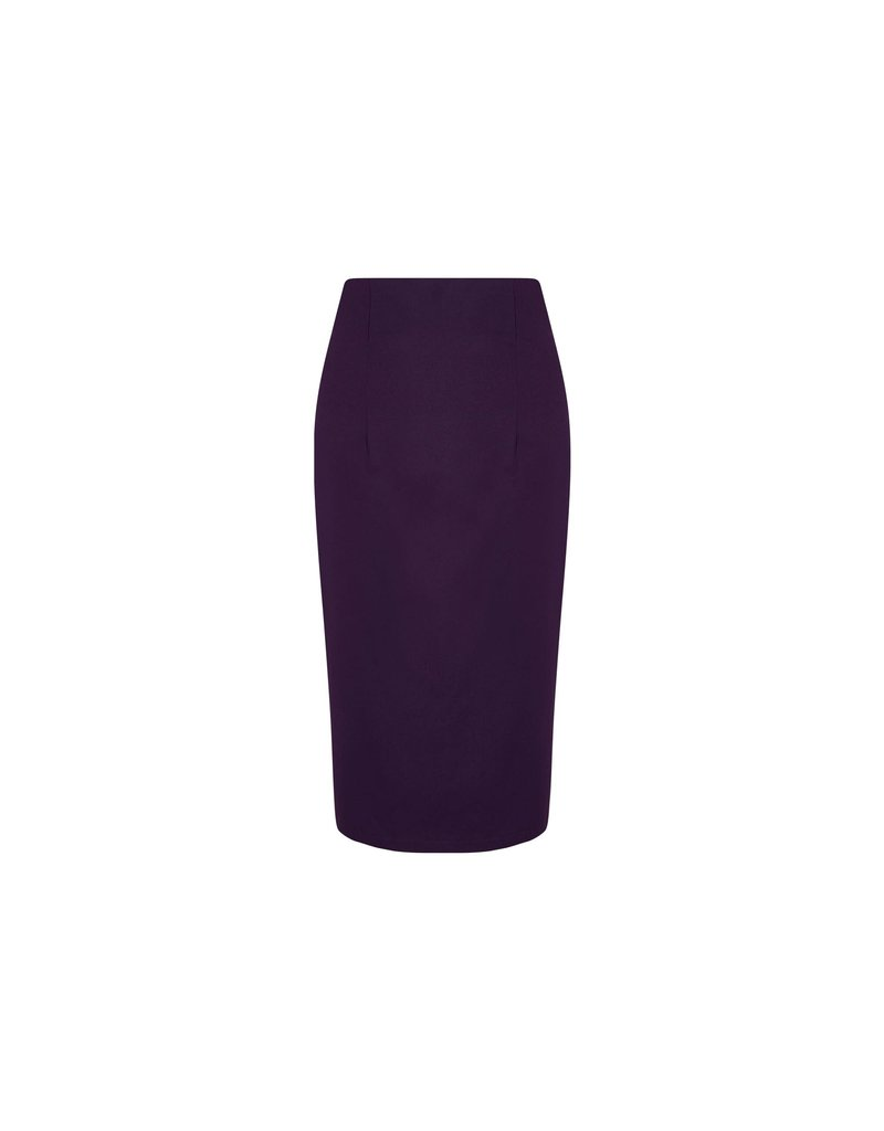 Dolly & Dotty Falda Pencil Skirt in Purple