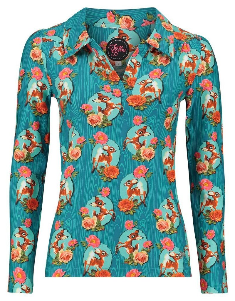 Tante Betsy Shirt Nellie Kitschy Deer Blue