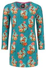 Tante Betsy KIDS Dress Mini Kitschy Deer Blue