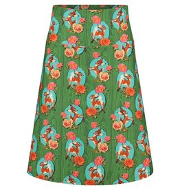 Tante Betsy Skirt Kitschy Deer Green