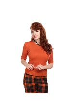 Collectif Chrissie Knitted Top - Tangerine