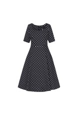 Collectif Amber polka dot swing jurk