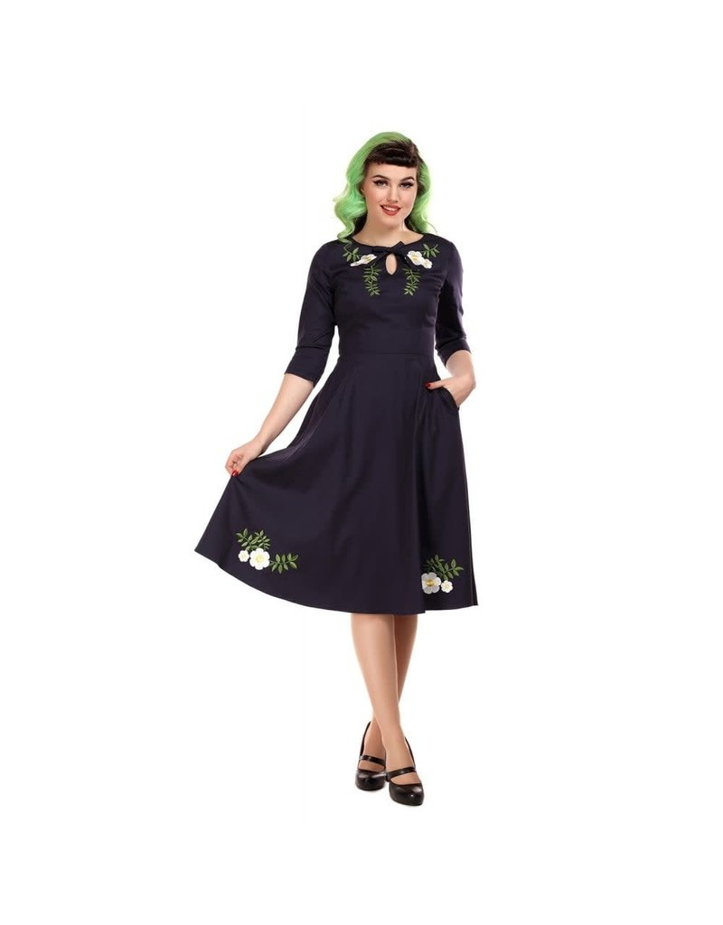 Collectif Rossella Camelia Swing Jurk