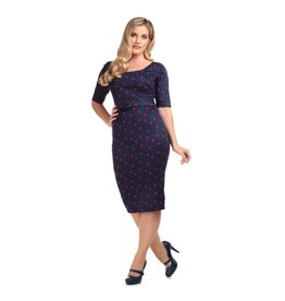 Collectif Amber Ladybird Pencil Dress