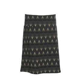 LaLaMour A-Line Skirt Twenties - Black/Taupe