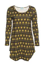 LaLaMour Flared Shirt Twenties - Green/Gold