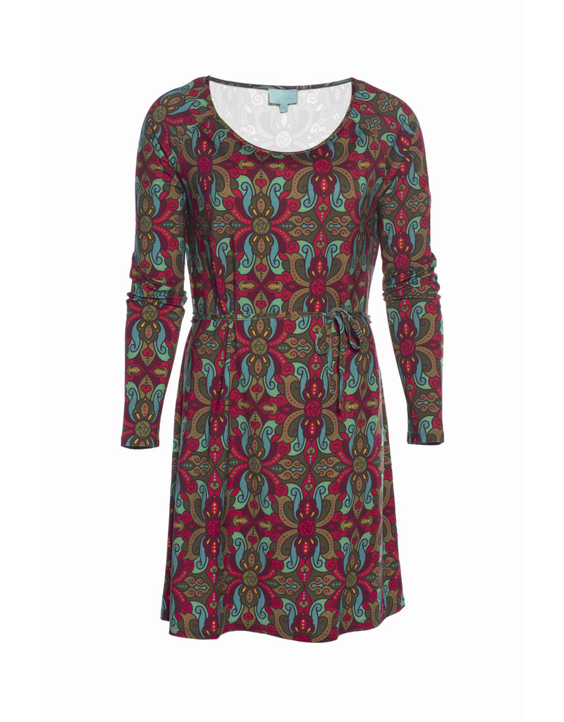 LaLaMour Tunic Dress Orient - Green/Aubergine