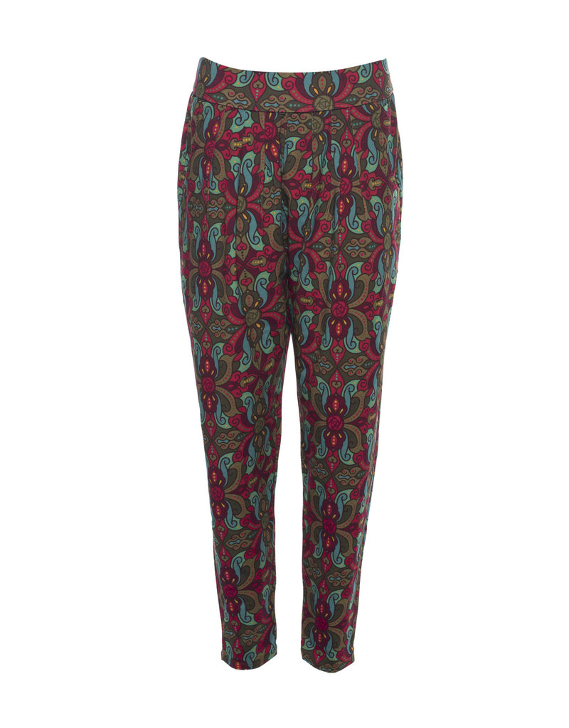 LaLaMour Orient Pants - Green/Aubergine