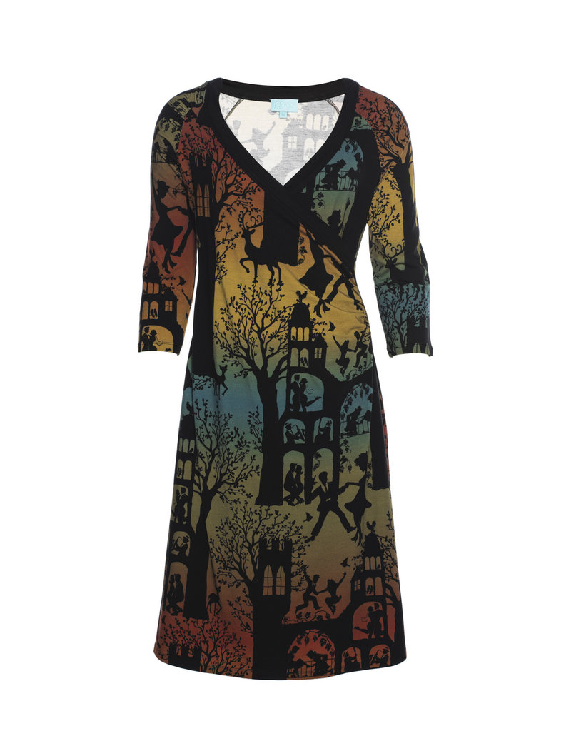 LaLaMour Wrap Dress Dance Palace - Green