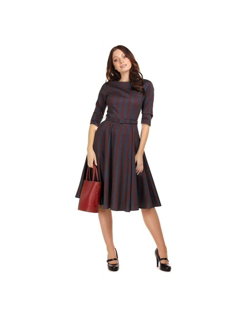 Collectif Suzanne Triplet Stripes Swing Dress