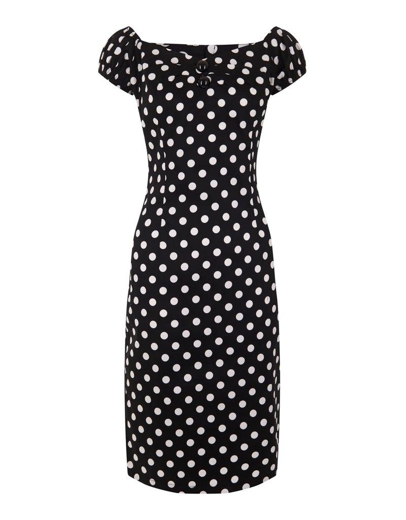 Collectif Dolores Pencil Dress Polka Dots