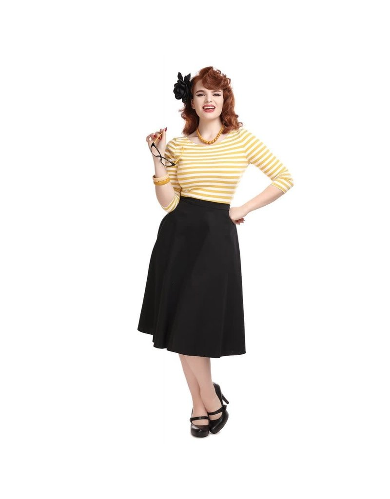 Collectif Cassie Classic Cotton Swing Skirt