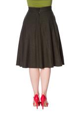 Banned Sassy Swing Skirt - Dark Green