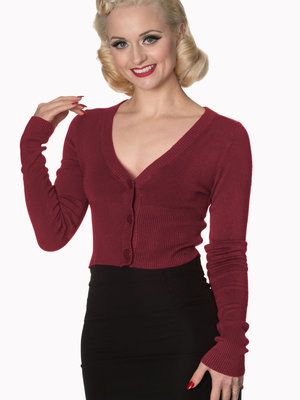 Banned Let's Go Dancing cardigan - Burgundy