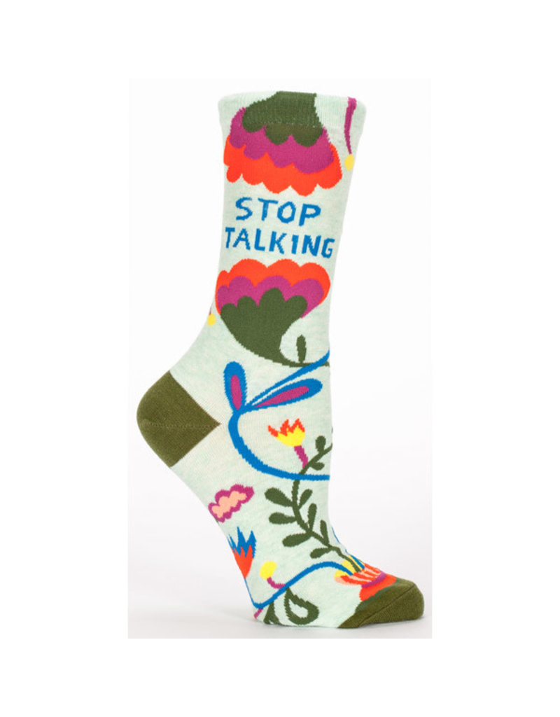 Blue Q Stop Talking socks
