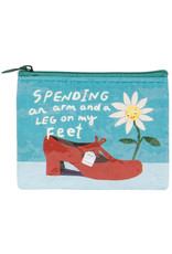 Blue Q Coin Purse - Spending Arm & Leg