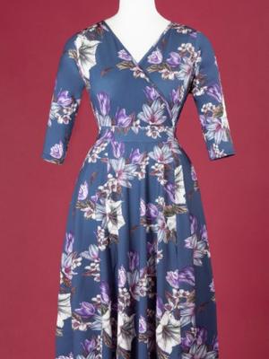 Lady V Lyra Dress - Navy Lily