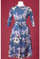 Lady V Lyra Dress - Navy Lily