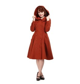 Collectif Heather Hooded Swing Coat