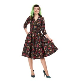 Penelope Midnight Floral Swing Dress