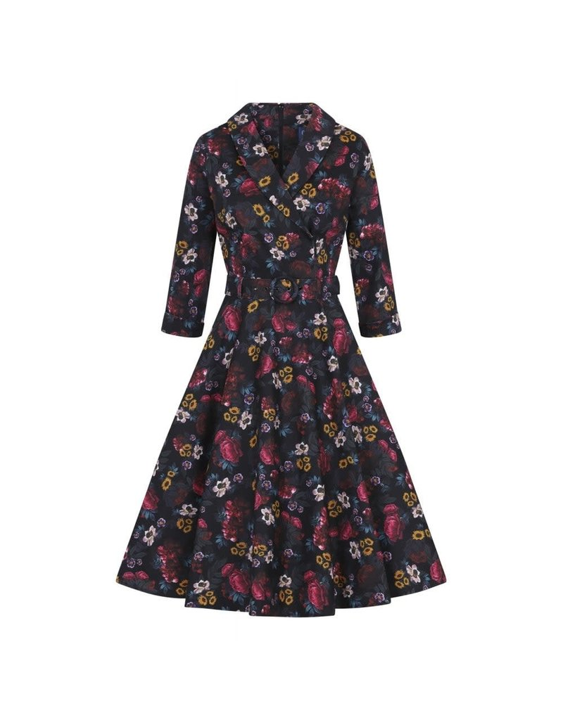 Penelope Midnight Floral Swing Dress