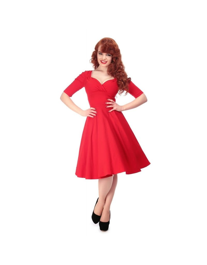 Collectif Trixie Doll Dress - red
