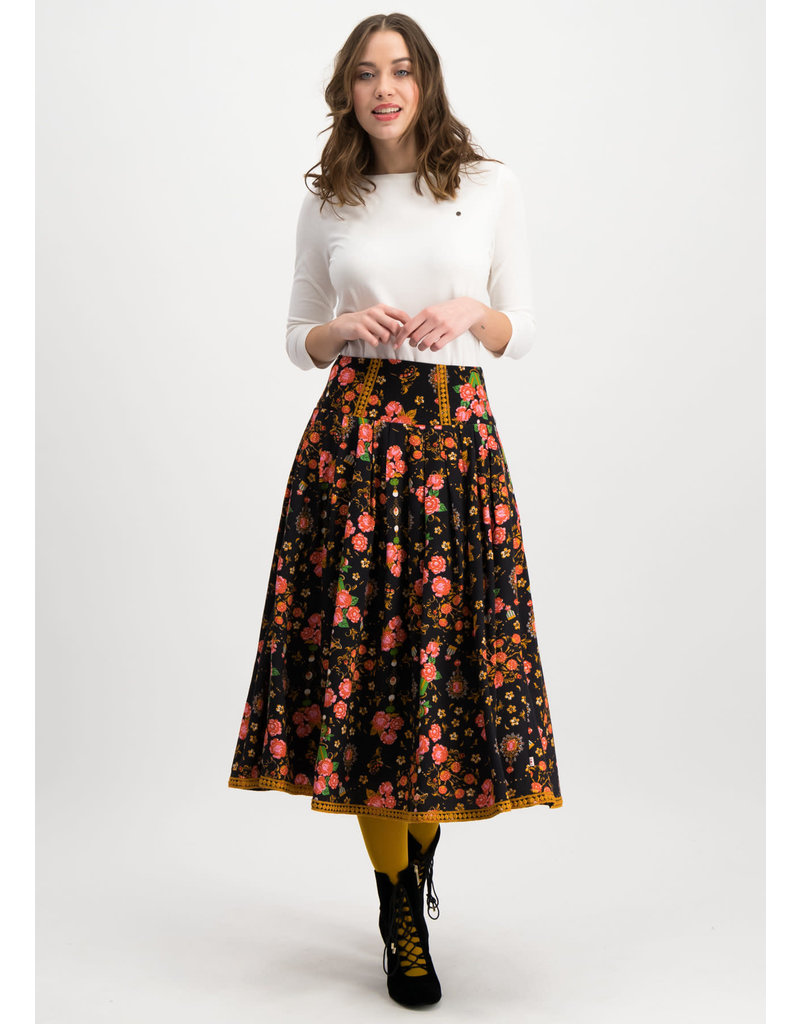 Blutsgeschwister crowningday skirt - Royal Ruby maat XS
