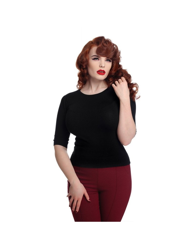 Collectif Chrissie Knitted Top - Black