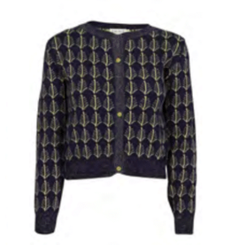 Palava Feathers cardigan - navy/gold