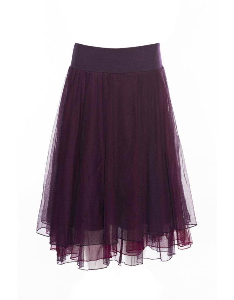 LaLaMour Mesh Skirt - Aubergine