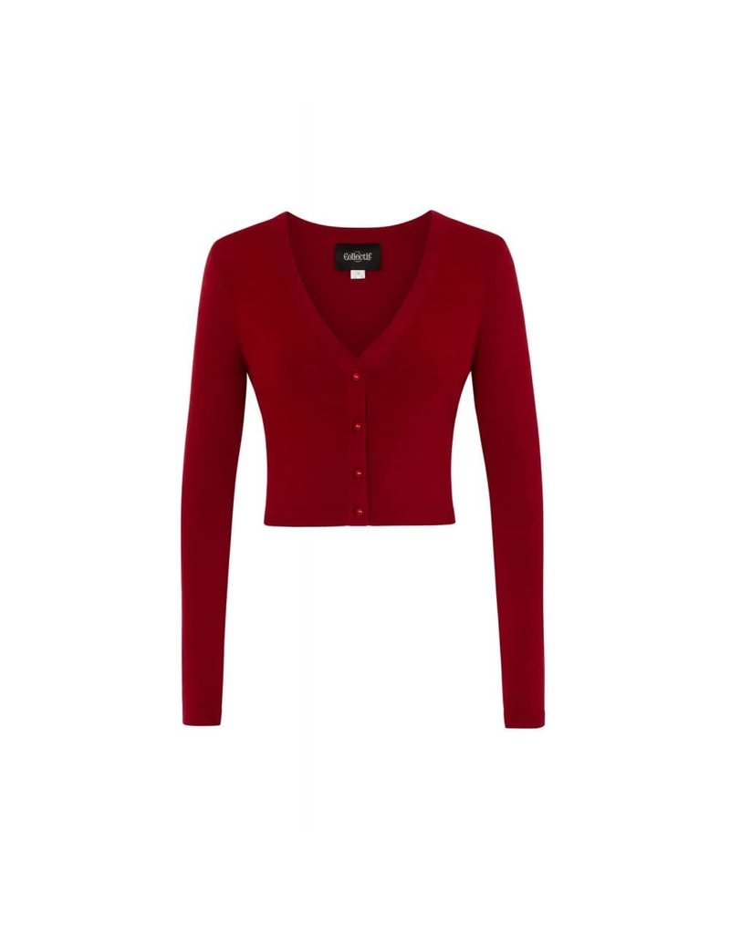 Collectif Kimberley Knitted Bolero Burgundy